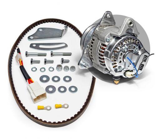 ALKTB068R B Series 55A Race alternator kit with a 100mm Pulley